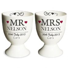 Mr & Mrs Pair of Egg Cups